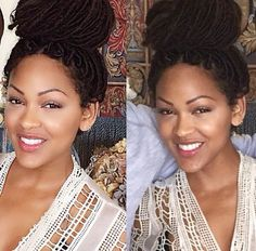 Meagan Good love her makeup,  protective style, and love her. As an actress team Meagan