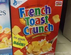 SPOTTED ON SHELVES: French Toast Crunch Cereal | The Impulsive Buy