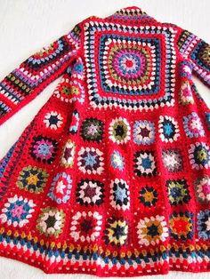 Transcendent Crochet a Solid Granny Square Ideas. Inconceivable Crochet a Solid Granny Square Ideas. Gilet Crochet, Crochet Coat, Crochet Cardigan, Love Crochet, Beautiful Crochet, Crochet Clothes, Crochet Shawl, Crochet Baby, Cardigan Pattern