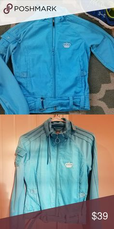 🌐👉Adidas jacket👈🌐 Sky blue sport jacket by Adidas worn once Adidas Jackets & Coats