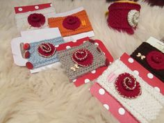 """Cup warmers with rose-hearts  """" Valentineś Day!!!"""