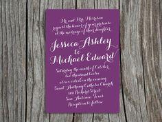 ...purple invite...