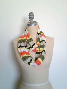 Safari stripe infinity scarf