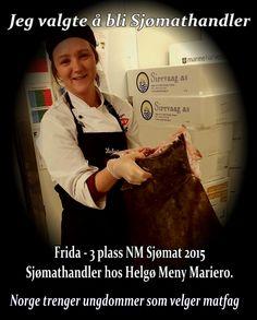 Utdannelse i Matfag i Norge. Sjømathandleren selger og bearbeider sjømat, og gir tips om tilberedning av sjømat til kunder. http://utdanning.no/yrker/beskrivelse/sjomathandler
