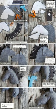 DIY - felt stick horses - Drone Forever And Never Ending<br> Horse Party, Cowboy Party, Sewing Hacks, Sewing Crafts, Sewing Projects, Sewing Tips, Felt Diy, Felt Crafts, Diy For Kids