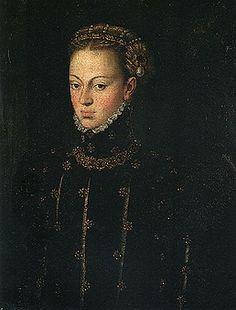 D. Joana de Áustria, mãe de D. Sebastião. Dressed Portuguese style.