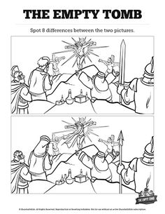 Matthew 28 He Is Risen Easter Kids Spot the Difference