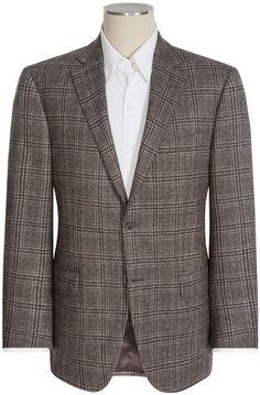 $429, Brown Plaid Wool Blazer: Peter Millar Modelcurrentbrandname Flynn Multi Check Sport Coat Wool. Sold by Sierra Trading Post. Click for more info: https://lookastic.com/men/shop_items/307277/redirect
