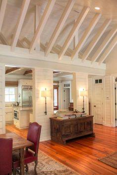 Sullivan's Island Gigi House panelling shiplap cottage details vaulted ceiling