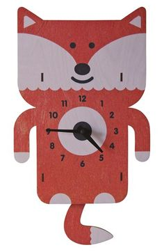 Free shipping and returns on MODERN MOOSE 'Fox' Pendulum Clock at Nordstrom.com. Handcrafted from sustainably harvested birch plywood, a cheery fox clock with a swingy pendulum tail adds fun to your child's bedroom.