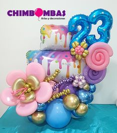 Balloon Bouquet, Balloon Decorations, Bouquets, Balloons, Birthday Cake, Facebook, Baby, Pastel Balloons, Valentines