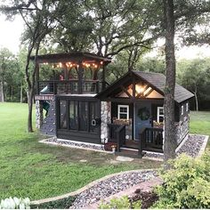 61 ideas garden ideas cottage tiny house for 2019 – Dream House Small Dream Homes, Small Luxury Homes, Tiny Cabins, Tiny Cottages, Log Cabins, Building For Kids, Building Plans, House Building, Tiny House Living
