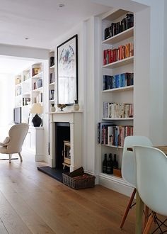 The fireplace design ideas are not something easy to find. However, the one that fit small living room is not easy to find. Living Room Interior, Home Living Room, Living Room Designs, Living Room Decor, London Living Room, Living Area, Small Living, Living Room Paint, Victorian Terrace Interior