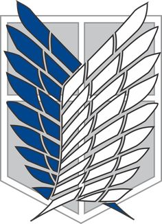 This is the Scouting Legion logo from the anime Attack on Titan(Shingeki no Kyojin) For those who don't know the Recon Corps are the driving force of th. Attack On Titan Symbol, Attack On Titan Tattoo, Attack On Titan Levi, Anime Tattoos, Tatoos, Titan Logo, Snk Cosplay, Anime Stickers, Exploration