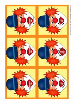 Mundmotorik Clowns                                                                                                                                                                                 Mehr Oral Motor Activities, Speech Therapy Activities, Apraxia, Speech Language Therapy, Speech And Language, Clown Crafts, Clowns, Therapy Tools, Language Development