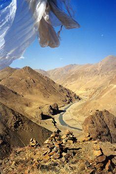 A wild landscape . Tibet