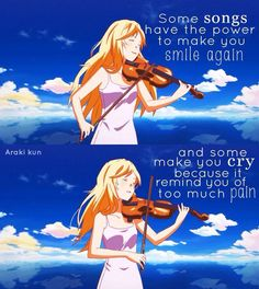 I like to play the piano but I don't really know how I just remember the keys this show inspired me: your lie in april