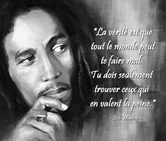 Bob Marley - 18 Citations - La vache rose Image Bob Marley, Bob Marley Citation, Einstein, Positivity, Motivation, Words, Celebrities, Quotes, Blog
