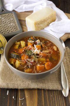 Autumn minestrone soup