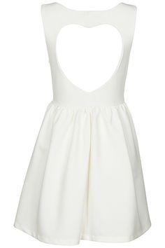 ROMWE   Cut-out Heart White Dress, The Latest Street Fashion #ROMWE