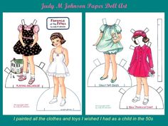 Image result for paper dolls from the 50s and 60s