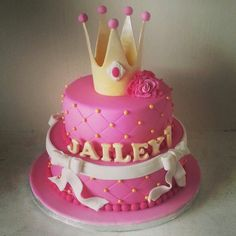 Pink birthday cake for a little princes