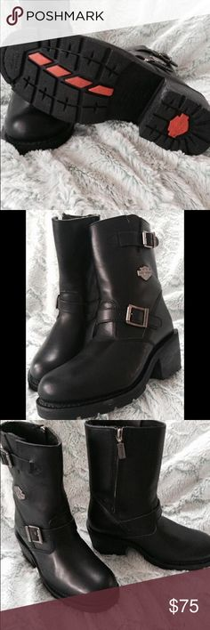 Harley Davidson women's size 8 1/2 boots EUC Harley Davidson women's size 8 boots Harley-Davidson Shoes Ankle Boots & Booties