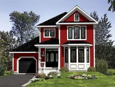 2 Story 3 Bed, 1 1/2 Bath 1510 sq ft Elevation of Victorian House Plan 48245