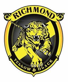 I had a go at a new logo for the Tiges. something based on the classic rampaging tiger logo of the and The current severed head logo to me feels a. Richmond Afl, Richmond Football Club, Football Team Logos, Sport Football, Soccer, Australian Football, Tiger Logo, Art Logo, Diving Tattoo