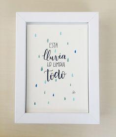 """Dibujo decorativo """"Esta lluvia lo limpia todo"""""""