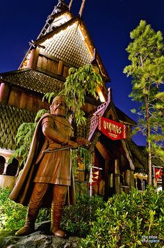 Norway Pavilion. The Stave Church exhibit is a must-do every visit for us.
