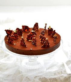 Tarte au chocolat / Chocolate coffee tart / Schokoladentarte mit Café