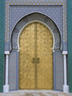 Ornate Doorway, the Royal Palace, Fez, Morocco