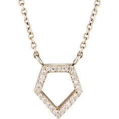 Monique Péan Women's White Diamond Geometric Pendant Necklace-Colorles (€2.215) ❤ liked on Polyvore featuring jewelry, necklaces, colorless, pave chain necklace, clear necklace, 18k necklace, geometric necklace and pendant chain necklace