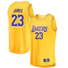 f76d7edfd56 LeBron James Los Angeles Lakers Fanatics Branded 2018 19 Fast Break Replica  Jersey Gold - Icon Edition