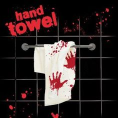 Spinning Hat Blood Bath Hand Towel,$19.99