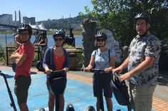 Zip through Portland's historic and developing west-side neighborhoods  on this guided Segway tour! Select a 1.5-hour waterfront tour or a  2-hour historical downtown tour, and enjoy quality sightseeing aboard  your electric Segway. Visit locations like the Steel Bridge, Pearl  District, historic Chinatown and the Portland Art Museum for a window  into the city's industrial and cultural past. Steel Bridge, Oregon Beaches, Thing 1, West Side, Beach Town, Art Museum, Portland, The Neighbourhood, Electric