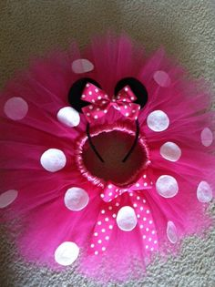 Minnie Mouse Tutu by TuTuCuteByStephanie on Etsy, $15.00