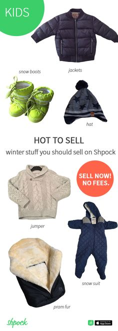 7f4174e55 Last year's winter clothes don't fit your child anymore? Sell them NOW on  Shpock and earn money for new things your little one needs.