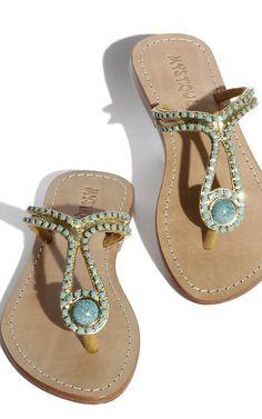Mystique Leather sandals with turquoise stones♥✤ | Keep the Glamour | BeStayBeautiful
