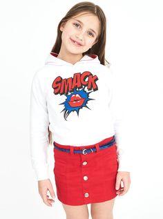 Felpa 100% cotone smack  #pinterest #pinit #kids #fashionkids #piazzaitalia #wearepeople #skirt #felpa #gonna