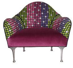 Vintage Mod Refurbished Upholstered Chair. via Etsy.