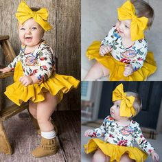 US Newborn Baby Girl Floral Romper Top+Tutu Shorts Dress Headband Outfit Clothes Cute Baby Girl, Baby Girl Newborn, Baby Girls, Baby Girl Tutu, Toddler Girls, Baby Girl Fashion, Kids Fashion, Baby Boy Outfits, Kids Outfits