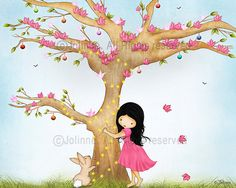 Children's room wall art, art print, poster, kids art, nursery art, Christmas print