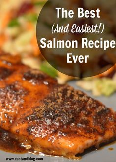 Looking for a quick and easy weeknight dinner that is a healthy meal too? This Brown Sugar Spiced Salmon Recipe, best salmon recipe ever!