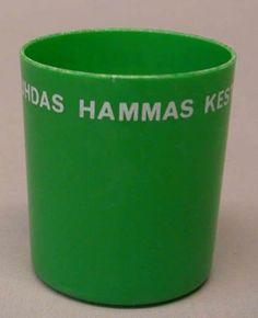 vihreä hammasmuki, 1960s or 1970s