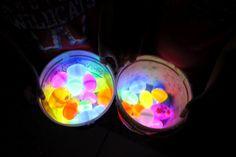 glow sticks + plastic Easter eggs = Glow in the Dark Easter Eggs