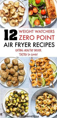 All of the weight watchers air fryer recipes included here are quick and SO easy to make, and even better, each and every one contains zero Weight Watchers Freestyle points. Thanks to the air fryer, eating healthy has never tasted so good! #airfryer #airf Air Fryer Recipes Wings, Air Fryer Recipes Appetizers, Air Fryer Recipes Snacks, Air Fryer Recipes Vegetarian, Air Fryer Recipes Low Carb, Air Fryer Recipes Breakfast, Air Fryer Dinner Recipes, Air Fry Recipes, Healthy Recipes