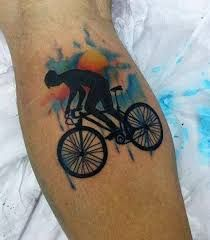 70 Bicycle Tattoo Designs For Men - Masculine Cycling Ideas M Tattoos, Bike Tattoos, Trendy Tattoos, Get A Tattoo, Tattoos For Guys, Sleeve Tattoos, Tattoos For Women, Colorful Tattoos, Tiny Tattoo
