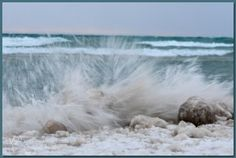 A wintry weekend, to be sure! Wind, waves, lake effect snow… and (my first encounter with) ice balls. I headed to the water's edge in time to catch Sunday's sunset, if the s… Waves, Sunset, Outdoor, Outdoors, Sunsets, Outdoor Games, Outdoor Living, Wave